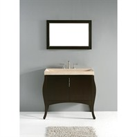 "Madeli Sorrento 39"" Bathroom Vanity with Integrated Basin - Espresso Sorrento-39-EX"