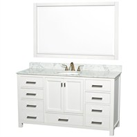 "Abingdon 60"" Single Bathroom Vanity Set by Wyndham Collection - White WC-1515-60-WHT"