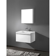 "Madeli Venasca 30"" Bathroom Vanity with Quartzstone Top - Glossy White B990-30-002-GW-QUARTZ"