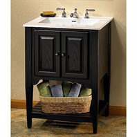 "Fairmont Designs 24"" Lifestyle Collection American Shaker Vanity - Distressed Black 168-V24BK"