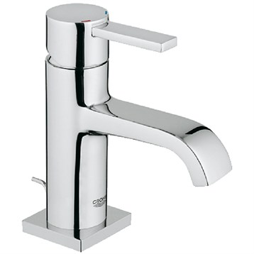Grohe Allure Lavatory Single-hole Centerset M-Size with Pop-up Waste, Starlight Chrome GRO 23077000 by GROHE