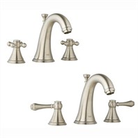 Grohe Geneva Low Spout Lavatory Wideset - Infinity Brushed Nickel