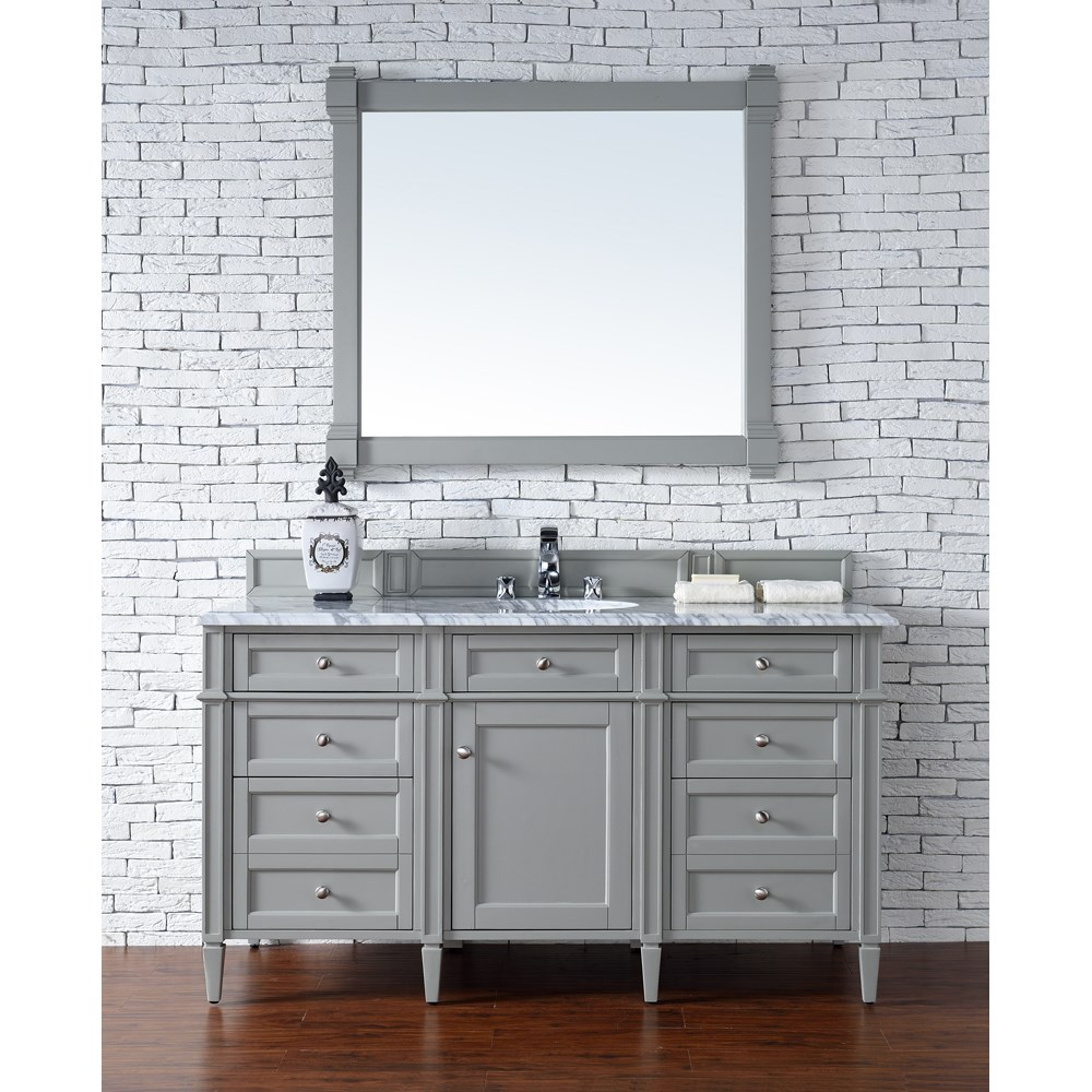 "James Martin 60"" Brittany Single Vanity - Urban Graynohtin Sale $1395.00 SKU: 650-V60S-UGR :"