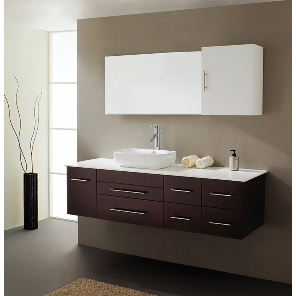 Virtu Usa Justine 59 Single Sink Bathroom Vanity Espresso Free Shipping Modern Bathroom