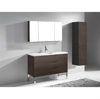"Madeli Milano 48"" Bathroom Vanity for Quartzstone Top - Walnut B200-48-002-WA-QUARTZ"