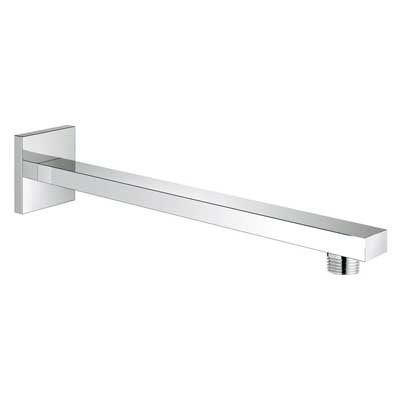 "Grohe Eurocube 11 1/4"" Shower Arm with Square Flange - Starlight Chrome GRO 27710000"