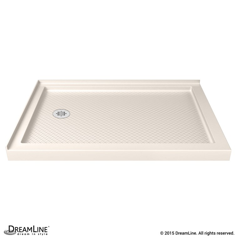 "Bath Authority DreamLine SlimLine Double Threshold Shower Base (34"" by 48"") - Biscuit DLT-103448-22"