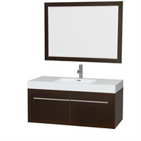 "Axa 48"" Wall-Mounted Bathroom Vanity Set With Integrated Sink by Wyndham Collection - Espresso WC-R4300-48-VAN-ESP"