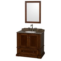 "Rochester 36"" Single Bathroom Vanity by Wyndham Collection - Cherry WC-J231-36-SGL-VAN-CHE"