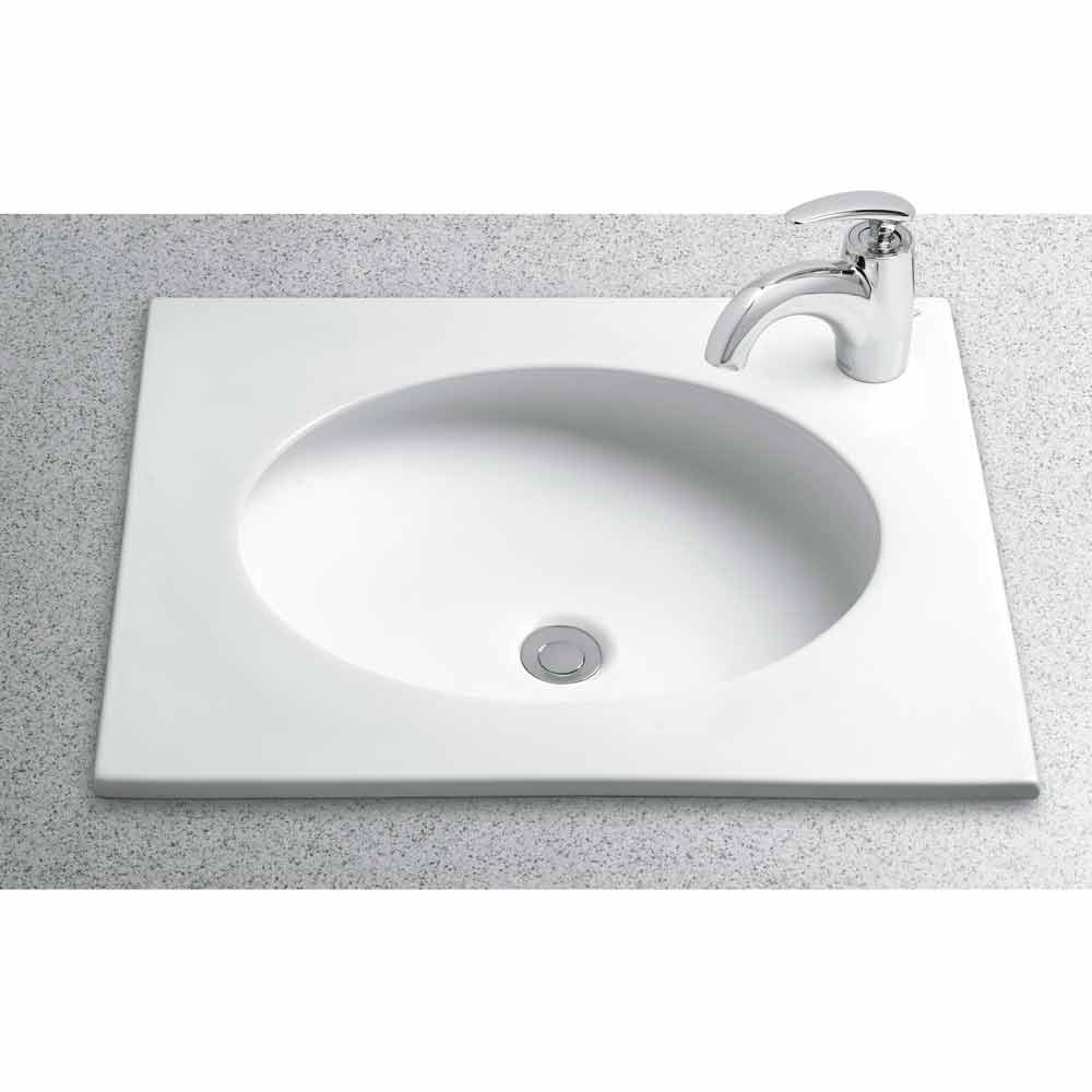 "TOTO Curva Self-Rimming Lavatory with Single Faucet Hole, 22"" x 19""nohtin Sale $430.00 SKU: LT182 :"