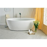 Aquatica Sensuality-Wht Freestanding Solid Surface Bathtub - Matte White Aquatica Sens-Wht