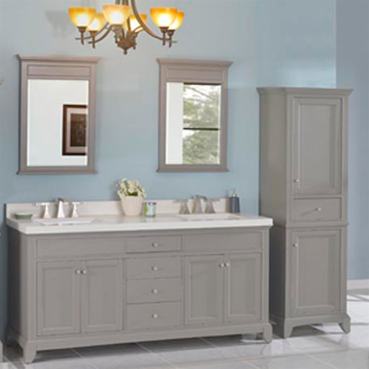 "Fairmont Designs Smithfield 72"" Double Bowl Vanity - Medium Gray 1504-V7221D"
