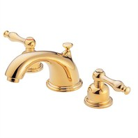 Danze® Sheridan™ Widespread Lavatory Faucets - Polished Brass D304155PBV