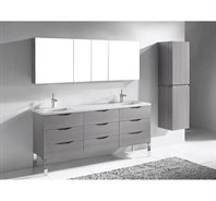 "Madeli Milano 72"" Double Bathroom Vanity for Quartzstone Top - Ash Grey B200-72-002-AG-QUARTZ"