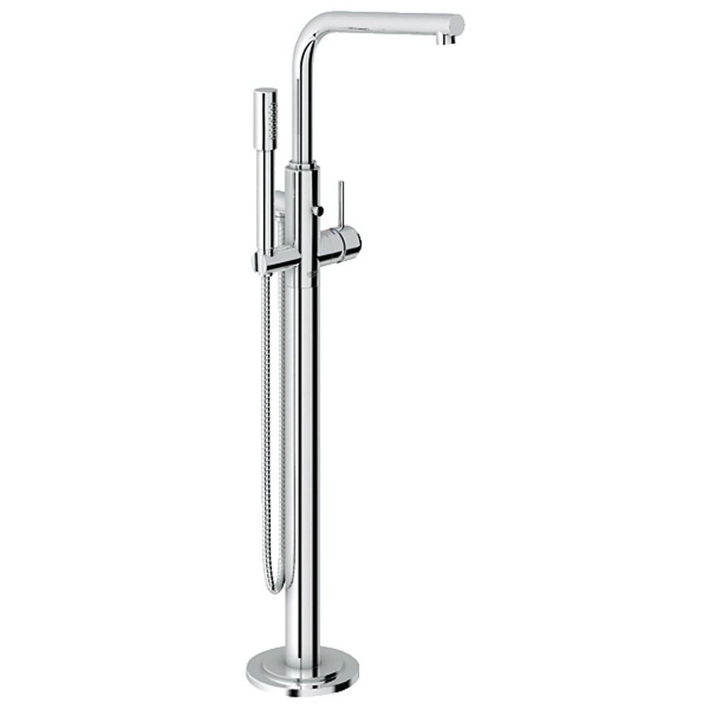 Image of Grohe Atrio Freestanding Tub Filler with Hand Shower - Starlight Chrome
