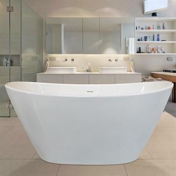 Aquatica Purescape 748g-glossy Freestanding Solid Surface Bathtub - Glossy White