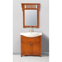 "Stufurhome 32"" Alexia Single Sink Vanity with Mirror - Cherry Red GM-6113-32-PR"
