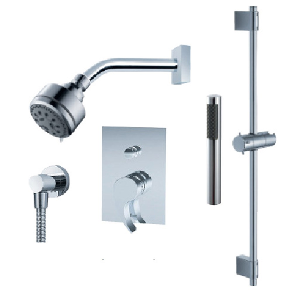 Round Tub Shower Faucet Set