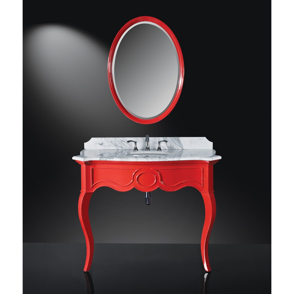 Luxe Sonnet 45 Single Bathroom Vanity High Gloss Red Free Shipping Modern
