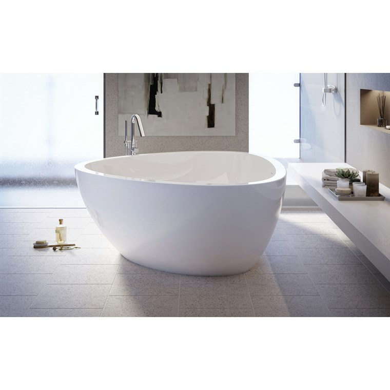 Aquatica Trinity-Wht Freestanding Acrylic Bathtub - High Gloss - White Aquatica Trinity-Wht