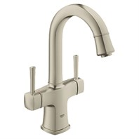"Grohe Grandera 2-Handle Basin Mixer 1/2"" L-Size - Brushed Nickel GRO 21108EN0"