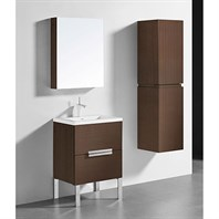 "Madeli Soho 24"" Bathroom Vanity for Integrated Basin - Walnut B400-24-001-WA"