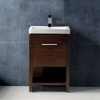 "Vigo 21"" Adonia Single Bathroom Vanity - Wenge - Hinge Right VG09027118RHK1"