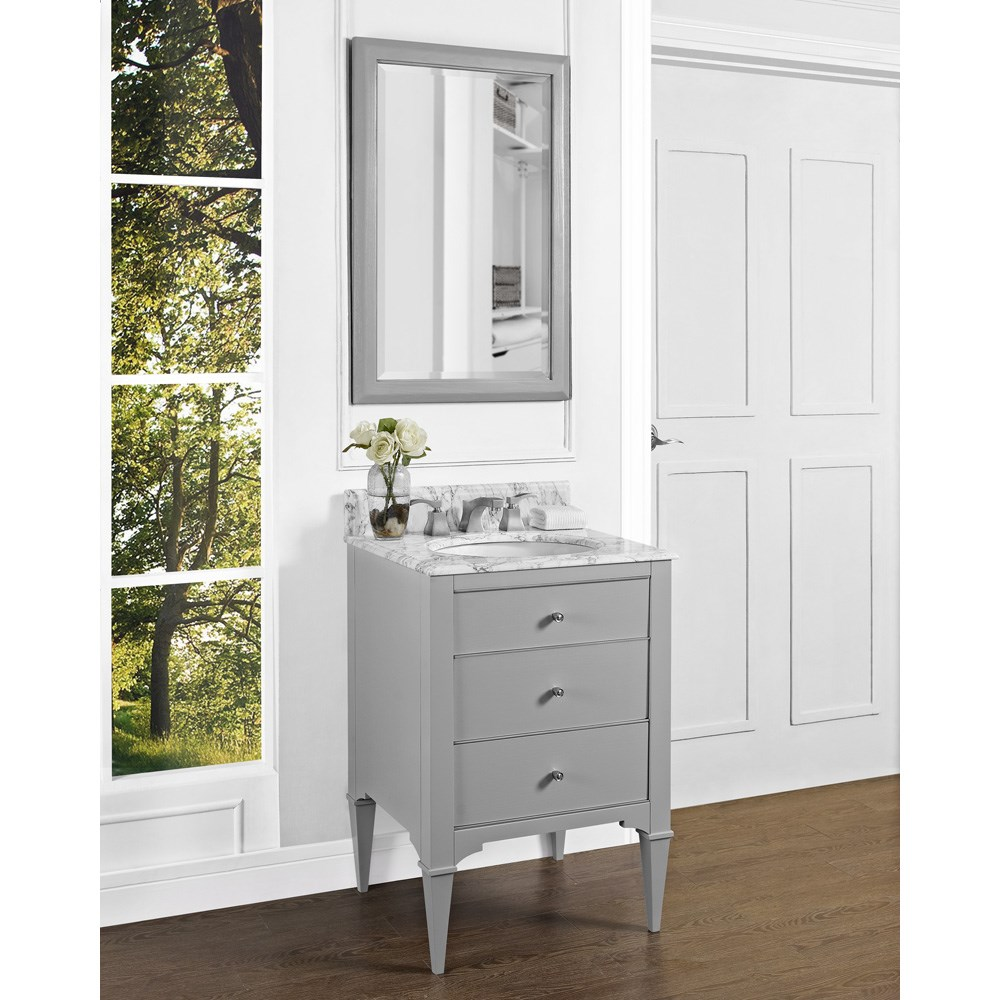 "Fairmont Designs Charlottesville 24"" Vanity for Undermount Oval Sink - Light Graynohtin Sale $1151.00 SKU: 1510-V24_ :"