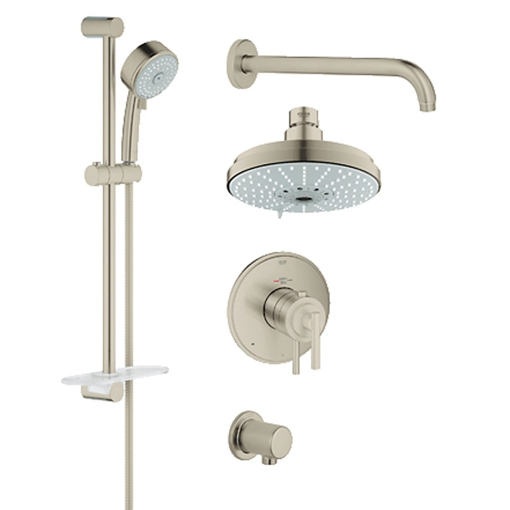 Grohe Atrio Grohflex Bath and Shower Set with Thermostat Valve - Brushed Nickelnohtin Sale $1045.99 SKU: GRO 35056EN0 :