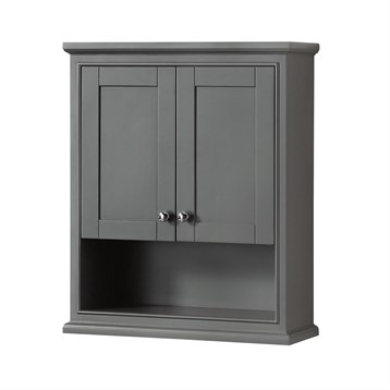 Genial Deborah Over Toilet Wall Cabinet By Wyndham Collection   Dark Gray | Free  Shipping   Modern Bathroom