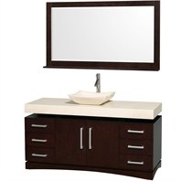 "Monterey 60"" Bathroom Vanity Set by Wyndham Collection - Espresso WC-CG6000-60-ESP"
