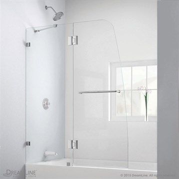 Bath Authority DreamLine Aqua Lux Clear Glass Tub Door | Free Shipping