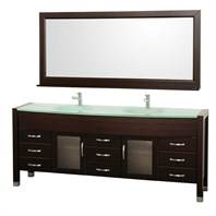 "Daytona 78"" Double Bathroom Vanity Set by Wyndham Collection - Espresso WC-A-W2200-78-ESP"
