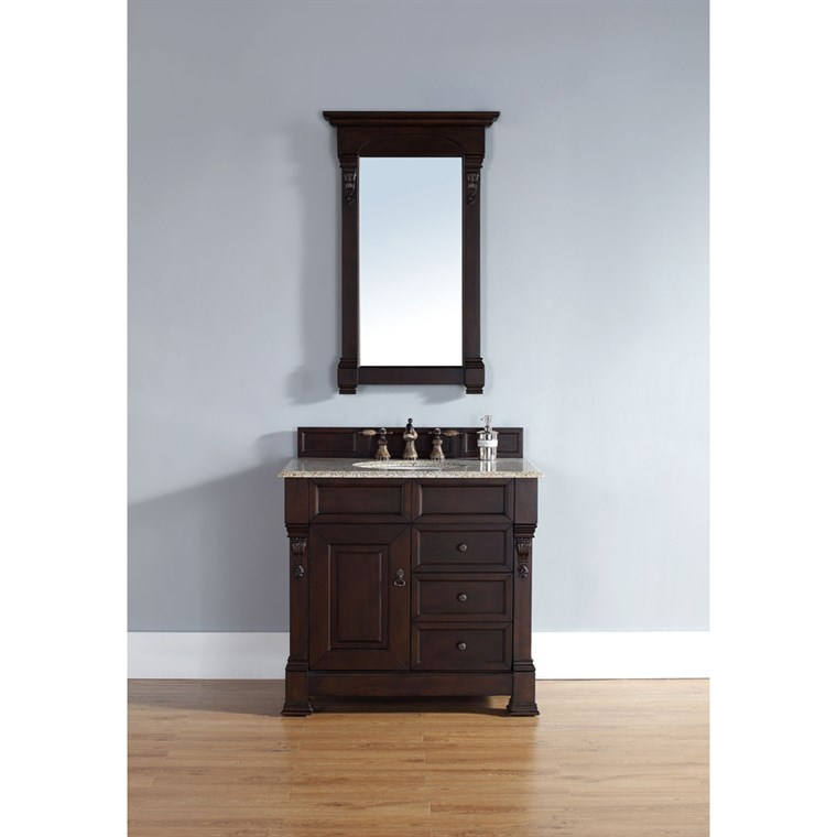 "James Martin 35"" Brookfield Single Vanity - Country Oak 147-114-5571"