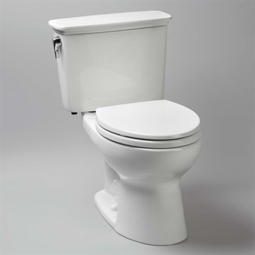 Toto Eco Drake Transitional Two-Piece Round Toilet, 1.28 GPF CST743EN by Toto