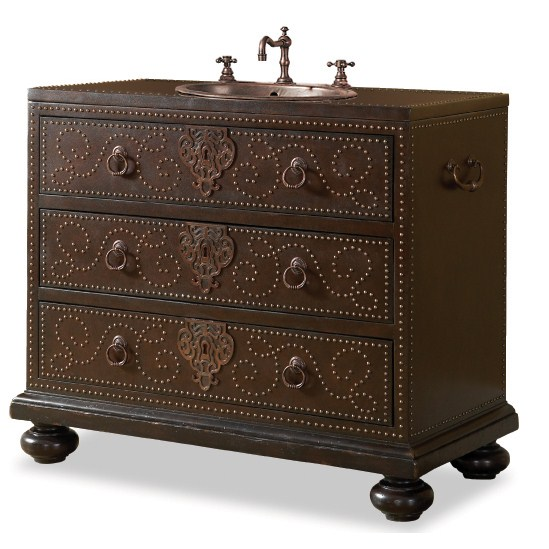 "Cole & Co. 43"" Designer Series Collection Bellamy Vanity - Dark Chestnut"