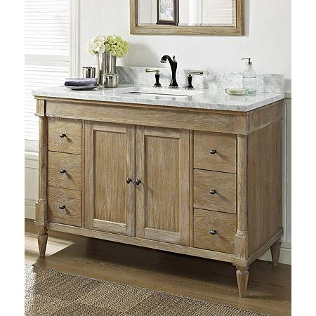 "Fairmont Designs Rustic Chic 48"" Vanity - Weathered Oaknohtin Sale $2055.00 SKU: 142-V48 :"