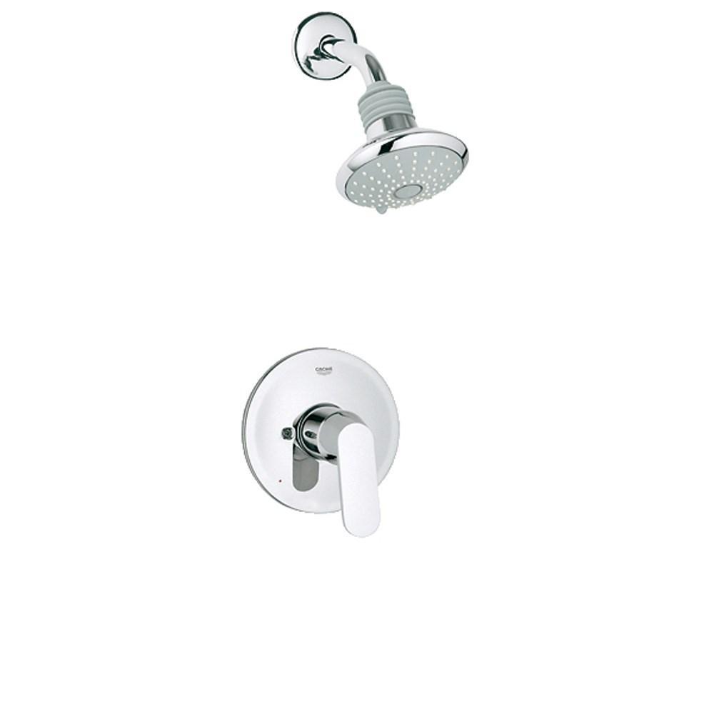 Grohe Eurosmart Cosmopolitan Pressure Balance Valve Shower Combination - Starlight Chrome GRO 35020000