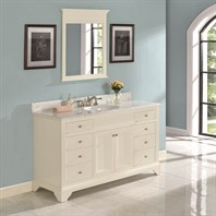 "Fairmont Designs Framingham 60"" Vanity - Polar White 1502-V60"