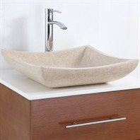 Avalon Vessel Sink by Wyndham Collection - Ivory Marble WC-GS002