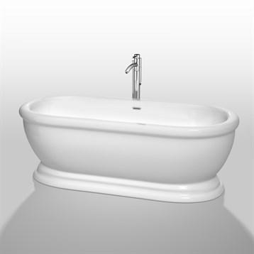 """Mary 68"""" Soaking Bathtub by Wyndham Collection, White WC-BTO852-68 by Wyndham Collection®"""