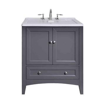 Stufurhome 30 5 Laundry Utility Sink Vanity Gray Free Shipping Modern Bathroom