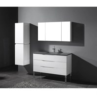 "Madeli Milano 48"" Bathroom Vanity for Quartzstone Top - Glossy White B200-48-002-GW-QUARTZ"