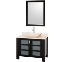 Vara Bathroom Vanity - Espresso Finish with Ivory Marble Counter CG3003-36-ESP-IVO