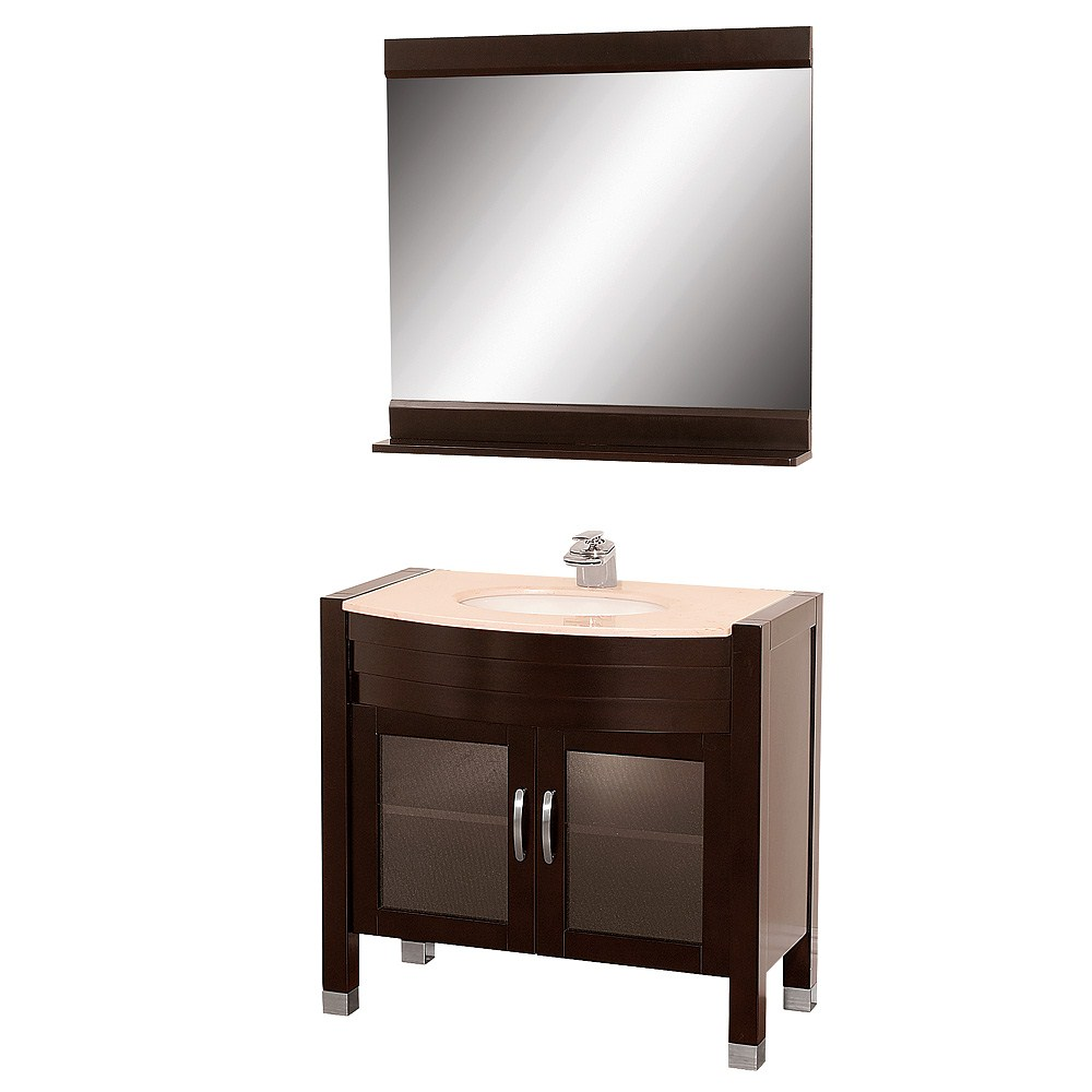 "Daytona 36"" Bathroom Vanity with Mirror - Espressonohtin Sale $997.00 SKU: A-W2109-36-ESP :"