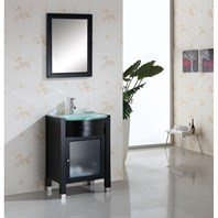 "Virtu USA Ava 24"" Single Sink Bathroom Vanity - Espresso MS-545-G-ES"