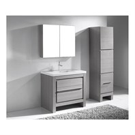"Madeli Vicenza 36"" Bathroom Vanity For X-Stone - Ash Grey B999-36-001-AG-XSTONE"