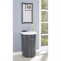 "Fairmont Designs Boulevard 24"" Curved Vanity and Sink Set - Charcoal Gray 150-V24"