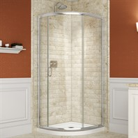 "Bath Authority DreamLine Solo Frameless Sliding Shower Enclosure and SlimLine Quarter Round Shower Base (33"" by 33"") DL-6711"