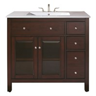 "Avanity Lexington 36"" Bathroom Vanity - Light Espresso LEXINGTON-36-LE"
